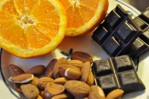 Biscotti med mandler, appelsin og tranebær