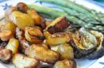 Pølseret kartofler pølser og paprika i ovn