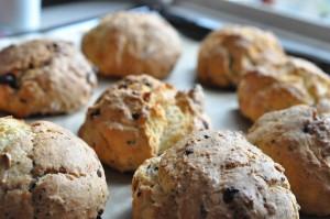 Chokoladescones - nem opskrift på scones