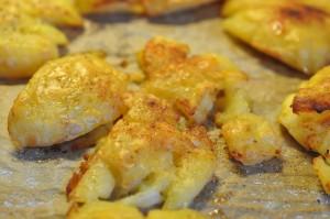 Knuste kartofler med paprika - nem opskrift
