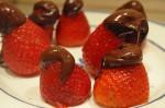Jordbær med chokolade