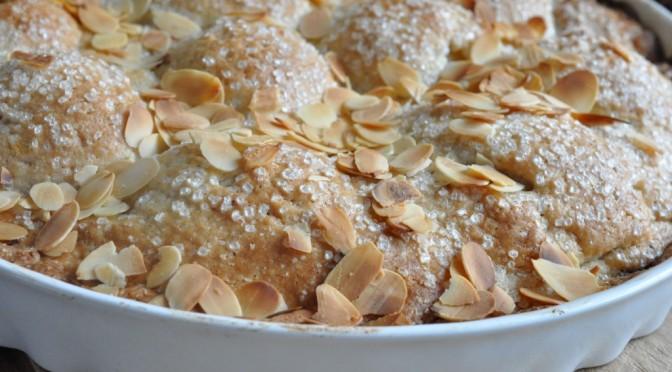 Pæretærte med chokolade og marcipan | NOGET I OVNEN HOS BAGENØRDEN