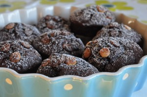 Chokolade muffins - opskrift på svampede muffins