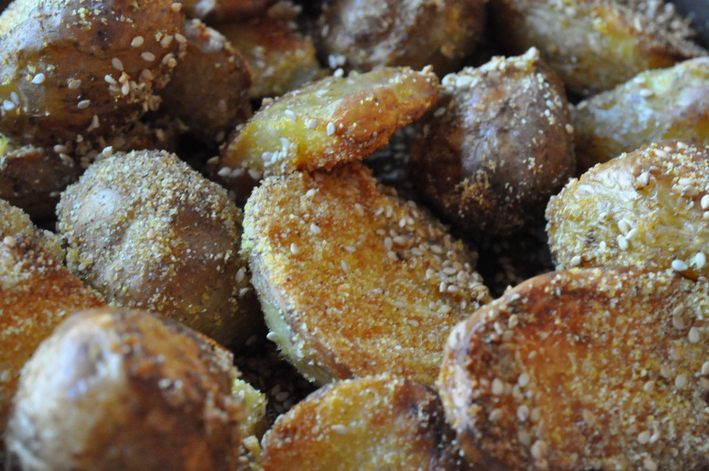 Kartofler i ovn med majsmel - sprøde & lækre