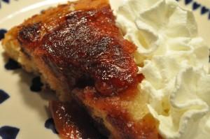 Æblekage på panden - opskrift a la tarte tatin