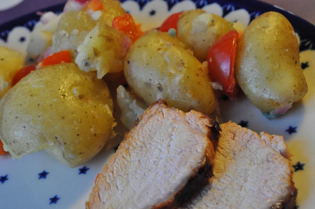 kartoffelsalat med rødløg