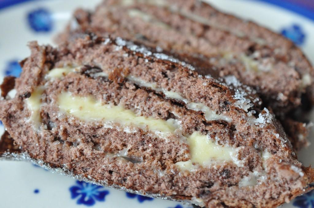 Chokoladeroulade nem opskrift med smørcreme