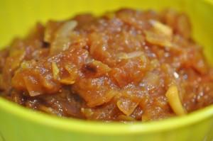 Æblechutney - opskrift på chutney med rødløg