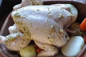 Kylling i stegeso - langtidsstegt i Römertopf