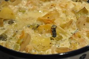 Flødekartofler opskrift - cremede med forårsløg