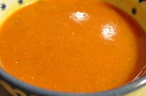 Krydret tomatsuppe med fløde