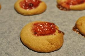 Syltetøjssmåkager småkager med marmelade