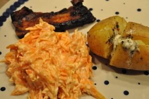 Coleslaw med skyr - nem opskrift med gulerod
