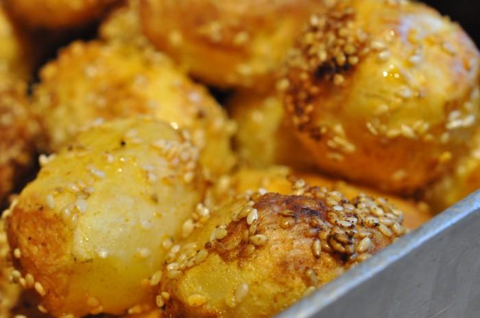 Sesamkartofler med paprika