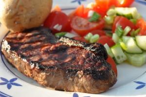 Entrecote på grill nem opskrift på grillet steak