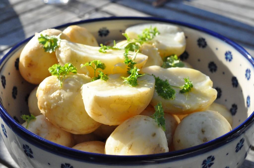 Nye danske kartofler med persille - kogetid