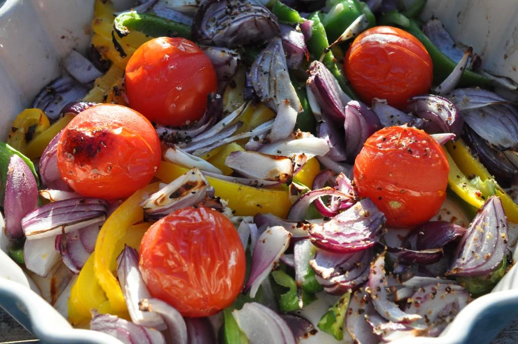 Grillede grøntsager i ovn eller på grill - opskrift