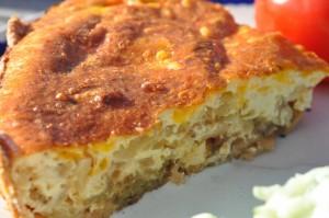 Løgtærter med bacon og ost