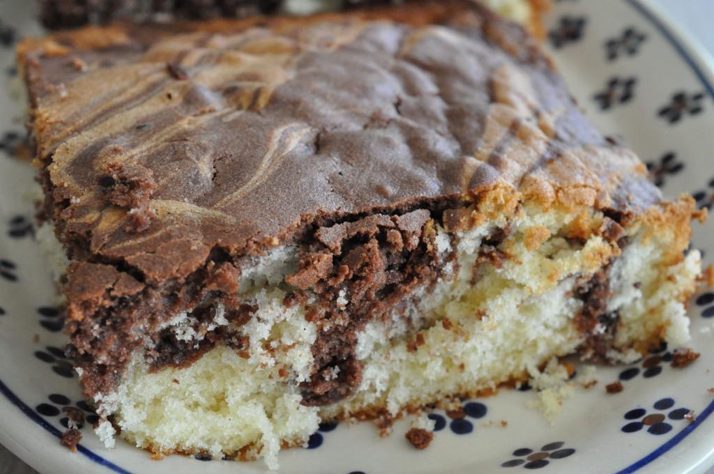 Marmorkage med chokolade - tigerkage