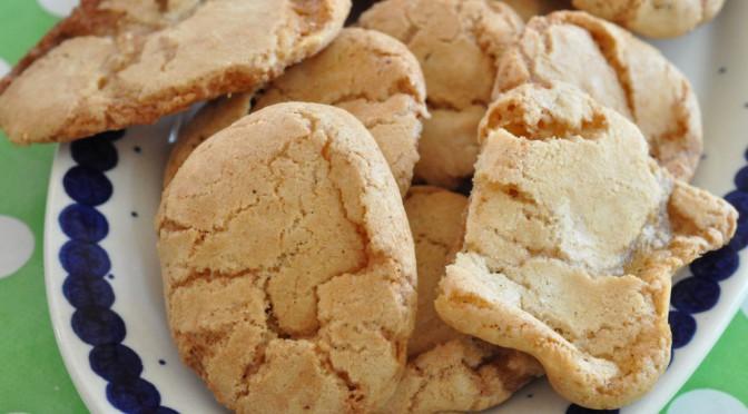sprøde cookies med mandler og marcipan