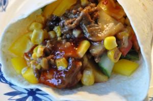 Tortilla med oksekød opskrift på lækre wraps