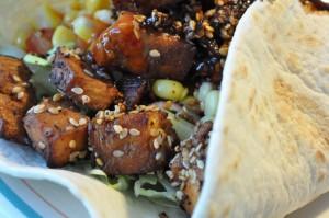 Tortillas med kylling og salat - nem opskrift