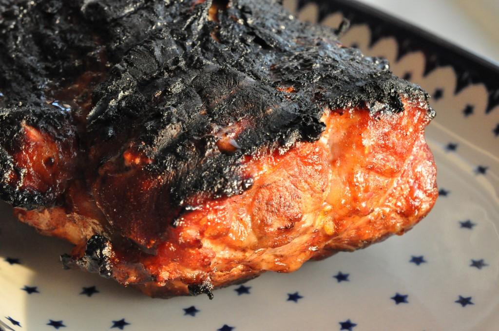 Grillet chili/barbecue marineret nakkesteg