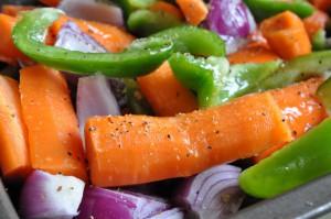 Honningbagte grøntsager i ovn - nem opskrift