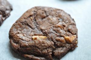 Sprøde chokoladecookies med hasselnødder og Nutella