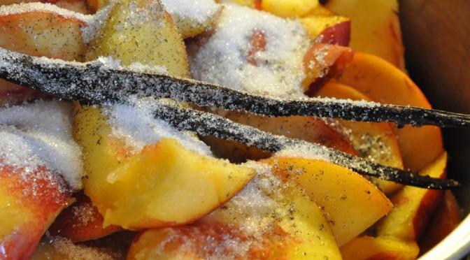 Nektarinmarmelade og ferskenmarmelade med vaniljeprikker