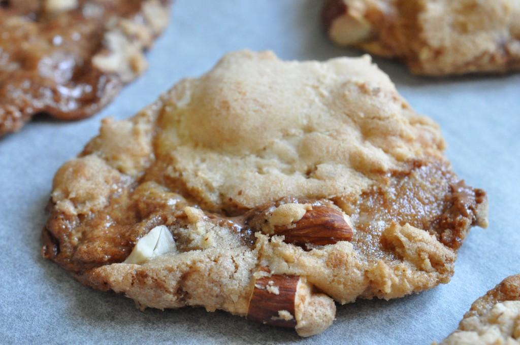 Line cookies med marcipan, Marsbar og mandler