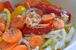 Flødekartofler med peberfrugt og løg