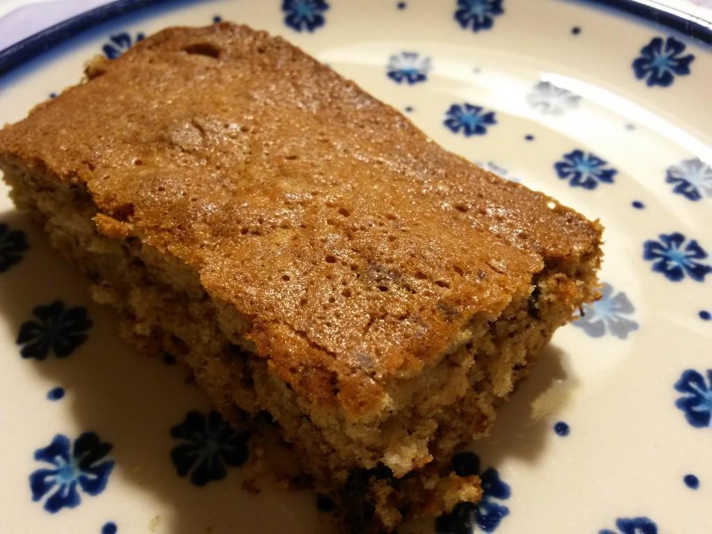 Lækker Banankage I Bradepande Med Chokolade Og Havregryn Noget I