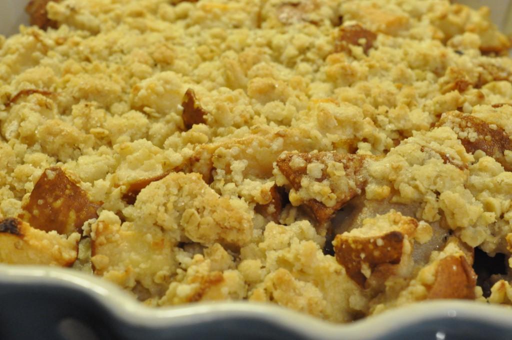 Lækker pærecrumble med knas - stop madspild