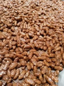 Choko rice crisp bites - chokoladekage med rice krispies