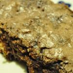 Chokoladekage brownie i mikrobølgeovn