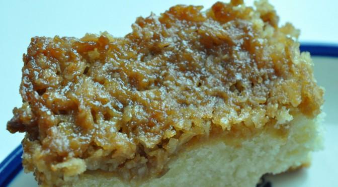 Drømmekage fra Brovst med marcipan og vaniljeskyr