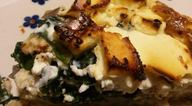 Spinattærte med løg og feta – glutenfrie grøntsagstærter