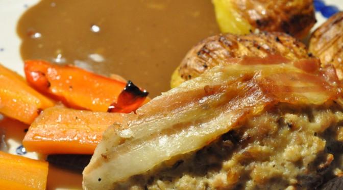 Klassisk forloren hare med bacon og flødesauce