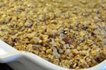 Drømmekage med sprød topping af havreryn