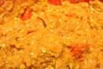 Krydrede kyllingefrikadeller med løg og peberfrugt