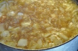Kartoffelsuppe med bacon til mange gæster