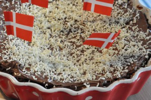 Chokoladekage med marcipan og Nutella