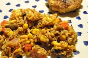 Stegte ris af risrest - stop madspild