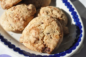 Cookies med chokolade og Nesquick