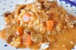 Gullash med flødesauce