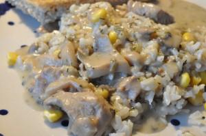 Lækker mørbradgryde i timian - oste - og flødesauce