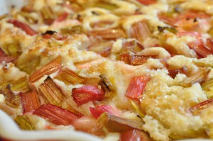 Kalorielet rabarbertærte med marcipan