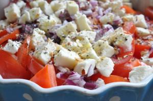 Tomatsalat med mozzarells