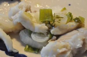 Torsk i folie og ovnbagt laks - fisk og blå himmel